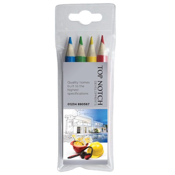 4 Pack Colouring Pencils