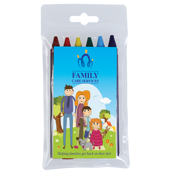 6 Pack of Colouring Crayons