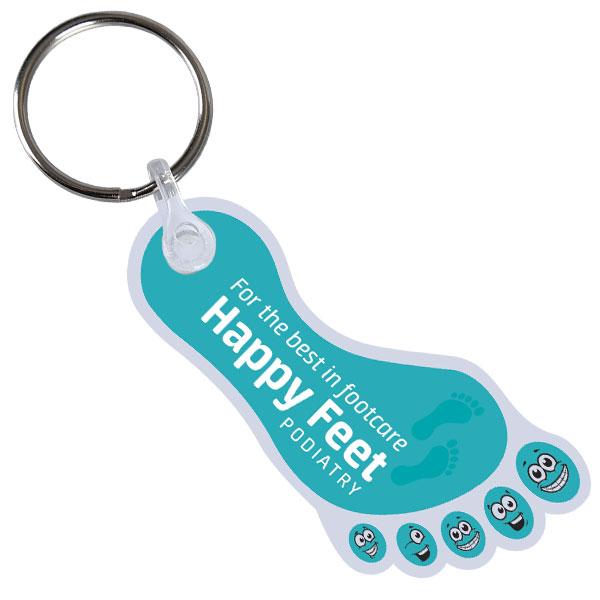 Flexible Plastic Keyring
