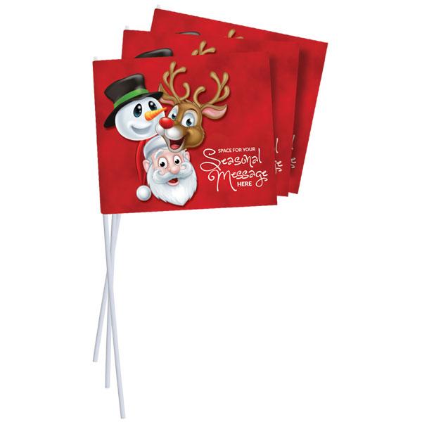 Festive Hand Waving Flags