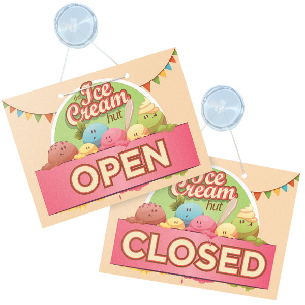 Open & Closed Door Sign