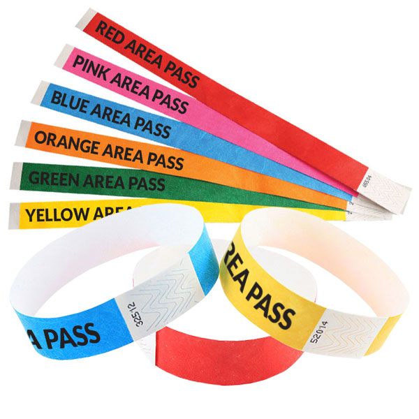Tyvek 19mm Wristbands