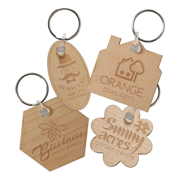 Wood Keyrings