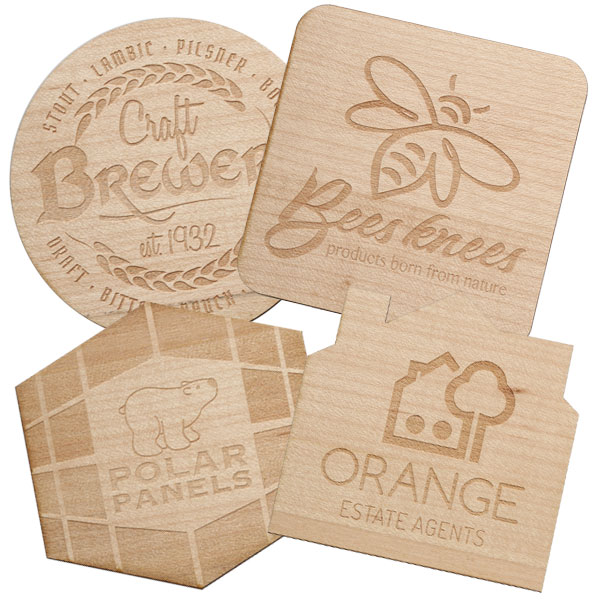 Wooden Coasters & Keyrings