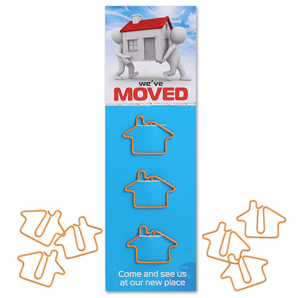 Shaped Paper Clips - House
